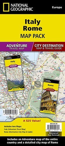 Italy, Rome [Map Pack Bundle] Adventure Maps; City Destination Maps EVMAPLINK