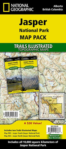 Jasper National Park [Map Pack Bundle] Trails Illustrated Maps Bundle EVMAPLINK