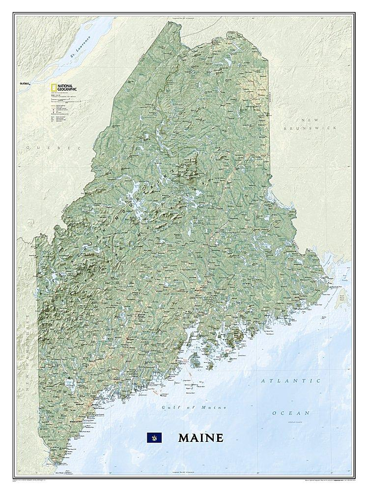 Maine Map Wall Maps EVMAPLINK Tubed