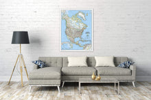 Load image into Gallery viewer, North America Classic [Enlarged] Wall Maps EVMAPLINK