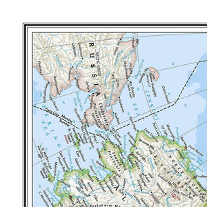 North America Classic [Enlarged] Wall Maps EVMAPLINK