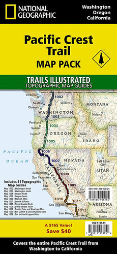 Pacific Crest Trail [Map Pack Bundle] Map Collection EVMAPLINK