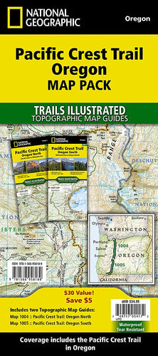 Pacific Crest Trail: Oregon [Map Pack Bundle] Trails Illustrated Maps Bundle EVMAPLINK
