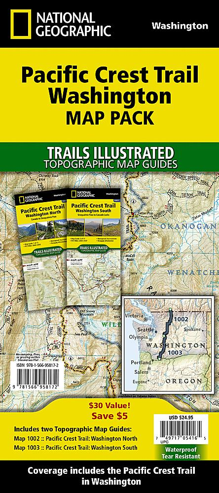 Pacific Crest Trail: Washington [Map Pack Bundle] Trails Illustrated Maps Bundle EVMAPLINK
