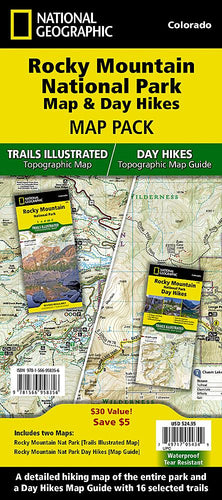 Rocky Mountain National Park Map & Day Hikes [Map Pack Bundle] Trails Illustrated Maps Bundle EVMAPLINK