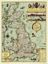 Load image into Gallery viewer, Shakespeare's Britain Wall Maps EVMAPLINK