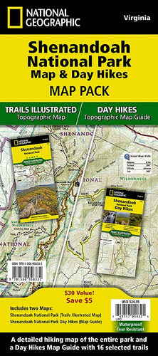 Shenandoah National Park Map & Day Hikes [Map Pack Bundle] Trails Illustrated Maps Bundle EVMAPLINK