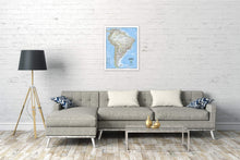 Load image into Gallery viewer, South America Classic [Enlarged] Wall Maps EVMAPLINK