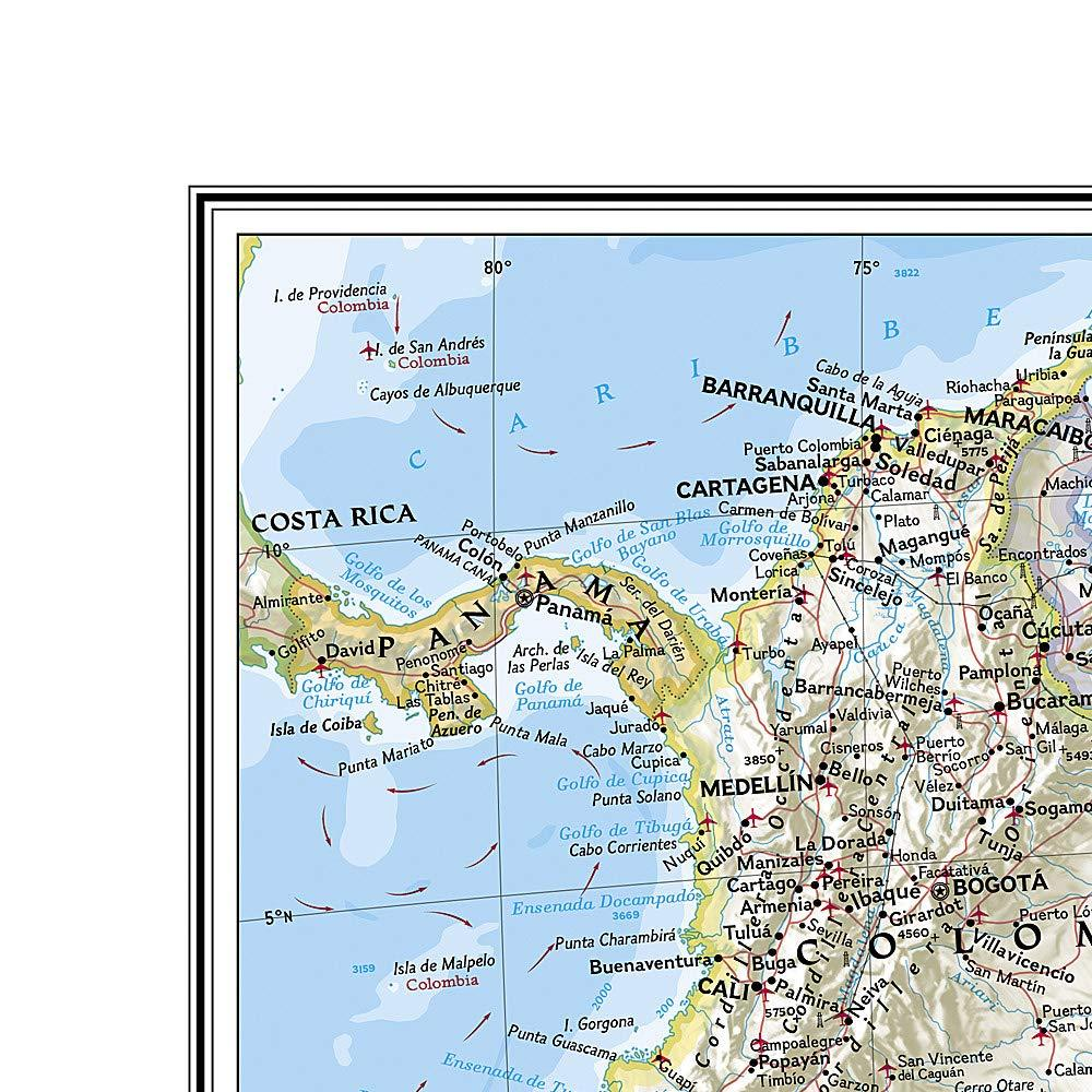 South America Classic [Enlarged] Wall Maps EVMAPLINK
