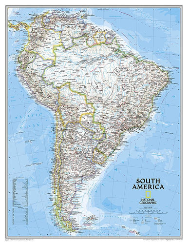 South America Classic [Enlarged] Wall Maps EVMAPLINK Tubed