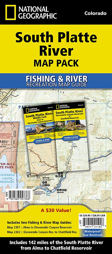 South Platte River [Map Pack Bundle] Fishing Guide Map Bundle EVMAPLINK