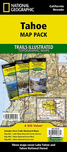 Tahoe [Map Pack Bundle] Trails Illustrated Maps Bundle EVMAPLINK