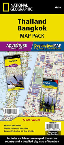 Thailand, Bangkok [Map Pack Bundle] Adventure Maps; City Destination Maps EVMAPLINK