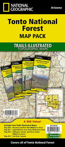 Tonto National Forest [Map Pack Bundle] Trails Illustrated Maps Bundle EVMAPLINK