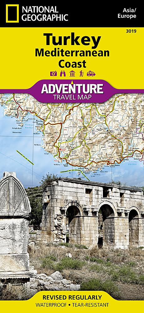 Turkey: Mediterranean Coast Adventure Maps EVMAPLINK