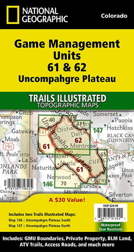Uncompahgre Plateau GMU [Map Pack Bundle] Trails Illustrated Maps Bundle EVMAPLINK