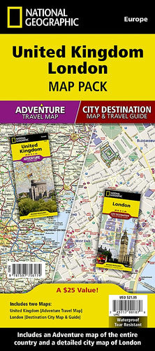United Kingdom, London [Map Pack Bundle] Adventure Maps; City Destination Maps EVMAPLINK