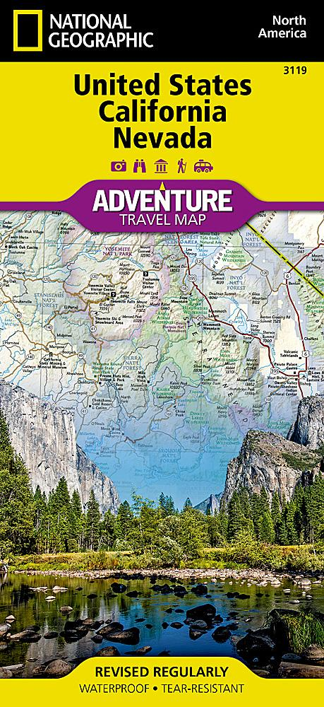 United States, California and Nevada Adventure Maps EVMAPLINK