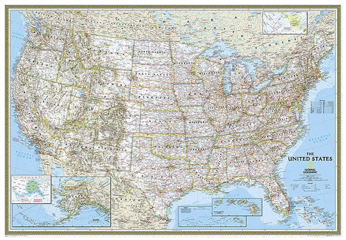 United States Classic [Enlarged] Wall Maps EVMAPLINK Tubed
