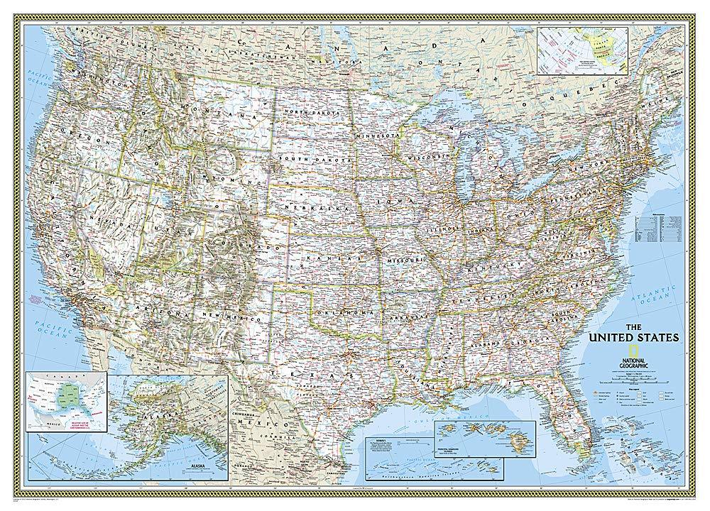 United States Classic Map [Mural] Wall Maps EVMAPLINK