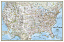Load image into Gallery viewer, United States Classic Map [Poster Size] Wall Maps EVMAPLINK Tubed