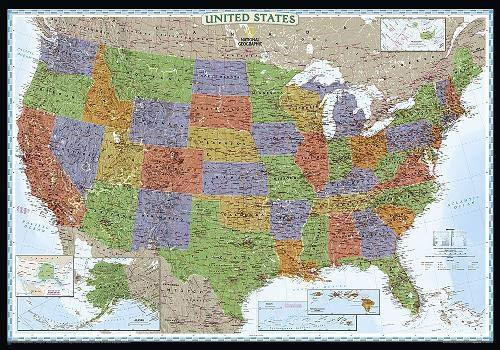 United States Decorator Map Wall Maps EVMAPLINK Tubed