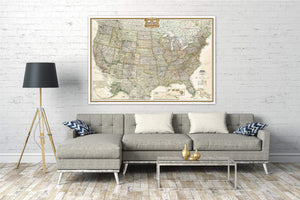 United States Executive Map [Enlarged] Wall Maps EVMAPLINK