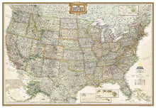Load image into Gallery viewer, United States Executive Map [Enlarged] Wall Maps EVMAPLINK Tubed