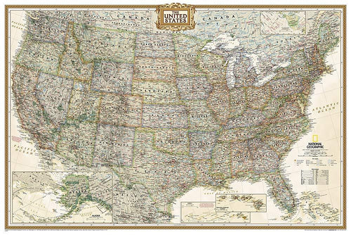 United States Executive Map [Poster Size] Wall Maps EVMAPLINK Tubed