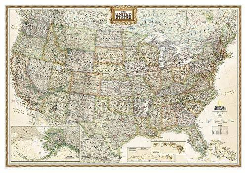 United States Executive Map Wall Maps EVMAPLINK Tubed