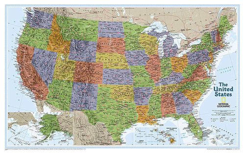 United States Explorer Map Wall Maps EVMAPLINK Tubed