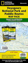 Load image into Gallery viewer, Voyageurs National Park and Paddle Routes [Map Pack Bundle] Trails Illustrated Maps Bundle EVMAPLINK