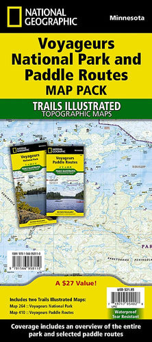 Voyageurs National Park and Paddle Routes [Map Pack Bundle] Trails Illustrated Maps Bundle EVMAPLINK