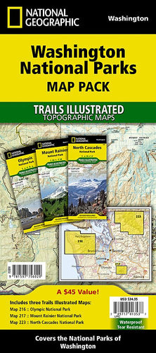 Washington National Parks [Map Pack Bundle] Trails Illustrated Maps Bundle EVMAPLINK