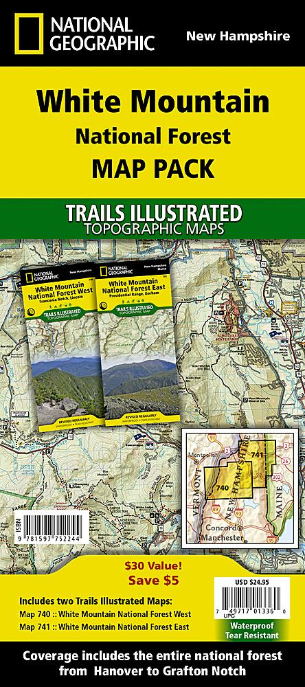 White Mountain National Forest [Map Pack Bundle] Trails Illustrated Maps Bundle Map-N-Hike