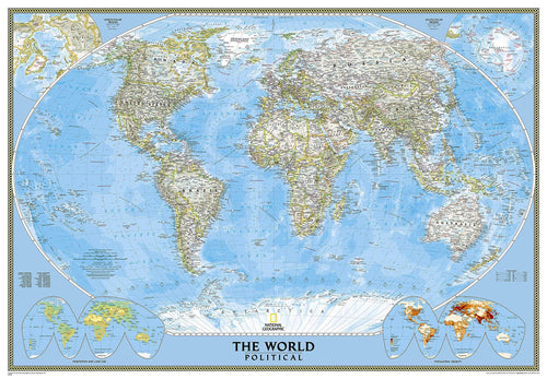 World Classic Map [Enlarged] Wall Maps EVMAPLINK Tubed