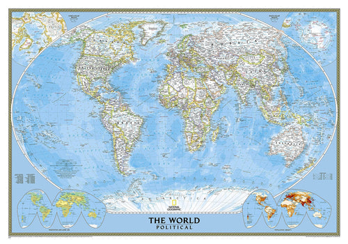 World Classic Map Wall Maps EVMAPLINK Tubed
