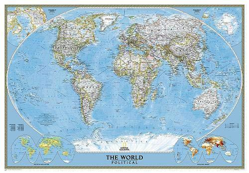 World Classic Mural Wall Maps EVMAPLINK