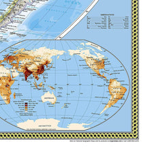 Load image into Gallery viewer, World Classic, Pacific Centered Map [Enlarged] Wall Maps EVMAPLINK