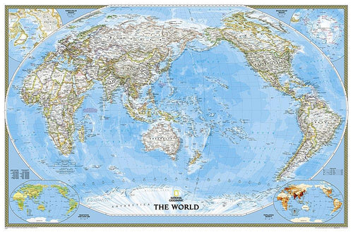 World Classic, Pacific Centered Map [Enlarged] Wall Maps EVMAPLINK Tubed