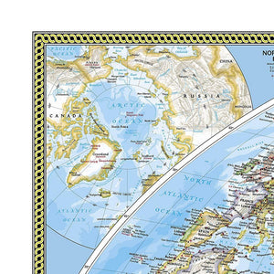 World Classic, Pacific Centered Map Wall Maps EVMAPLINK
