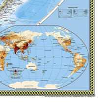 Load image into Gallery viewer, World Classic, Pacific Centered Map Wall Maps EVMAPLINK