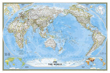Load image into Gallery viewer, World Classic, Pacific Centered Map Wall Maps EVMAPLINK Tubed