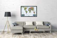Load image into Gallery viewer, World Decorator Map Wall Maps EVMAPLINK