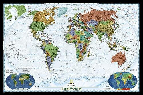 World Decorator Map Wall Maps EVMAPLINK Tubed