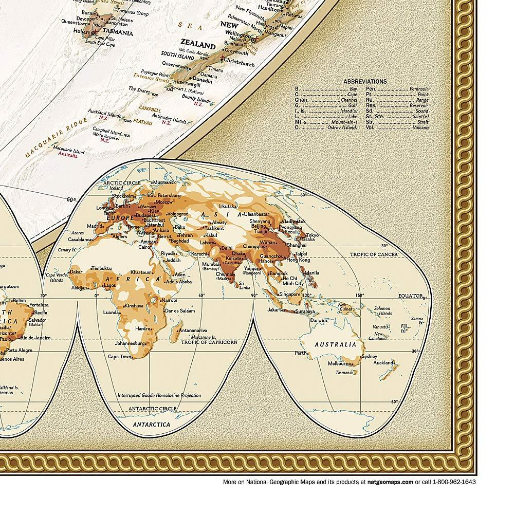 World Executive Map [Enlarged] Wall Maps EVMAPLINK