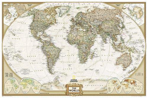 World Executive Map [Enlarged] Wall Maps EVMAPLINK Tubed