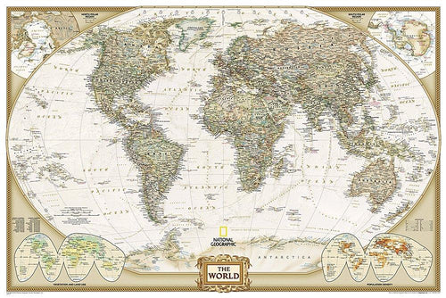 World Executive Map [Poster Size] Wall Maps EVMAPLINK Tubed