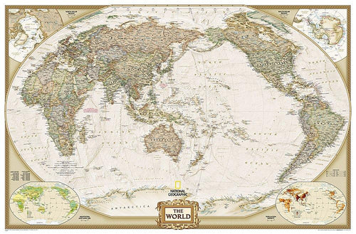 World Executive, Pacific Centered Map [Enlarged] Wall Maps EVMAPLINK Tubed