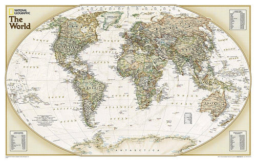 World Explorer Executive Map Wall Maps EVMAPLINK Tubed